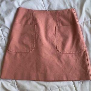 Pink LOFT Mini Skirt with Pockets